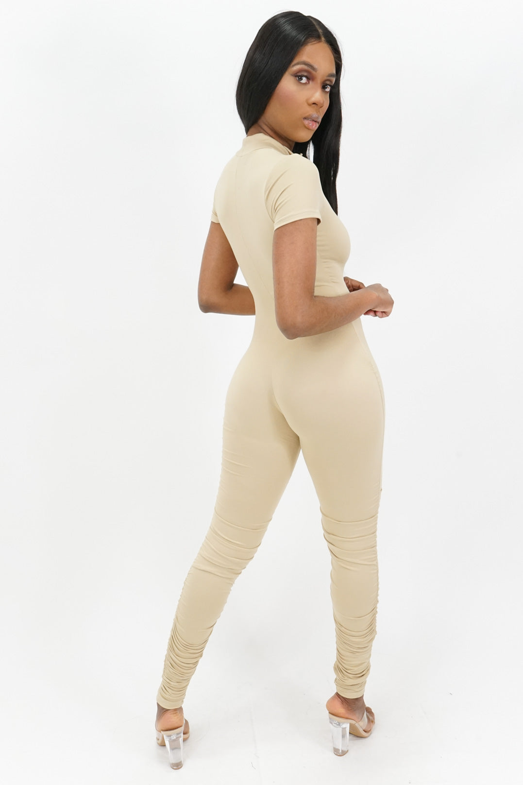 Miss Independent Stacked Zipped Jumpsuit