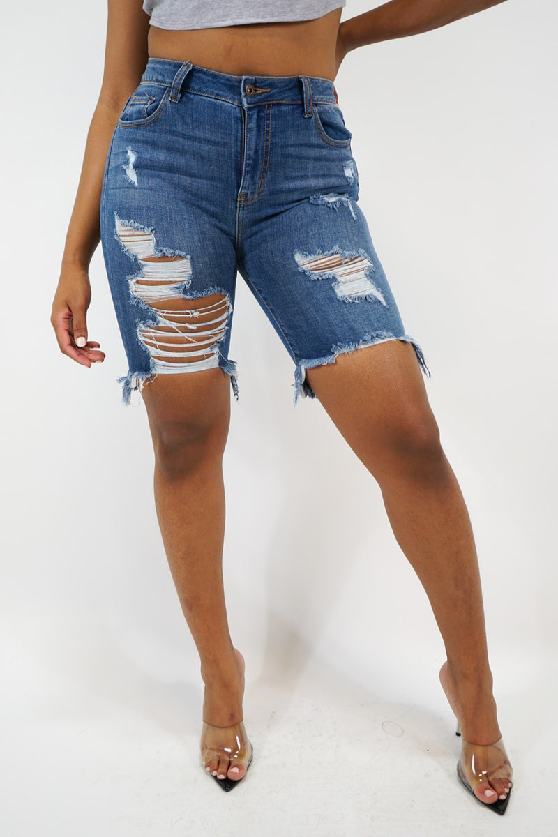 Just How I Like It Denim Shorts