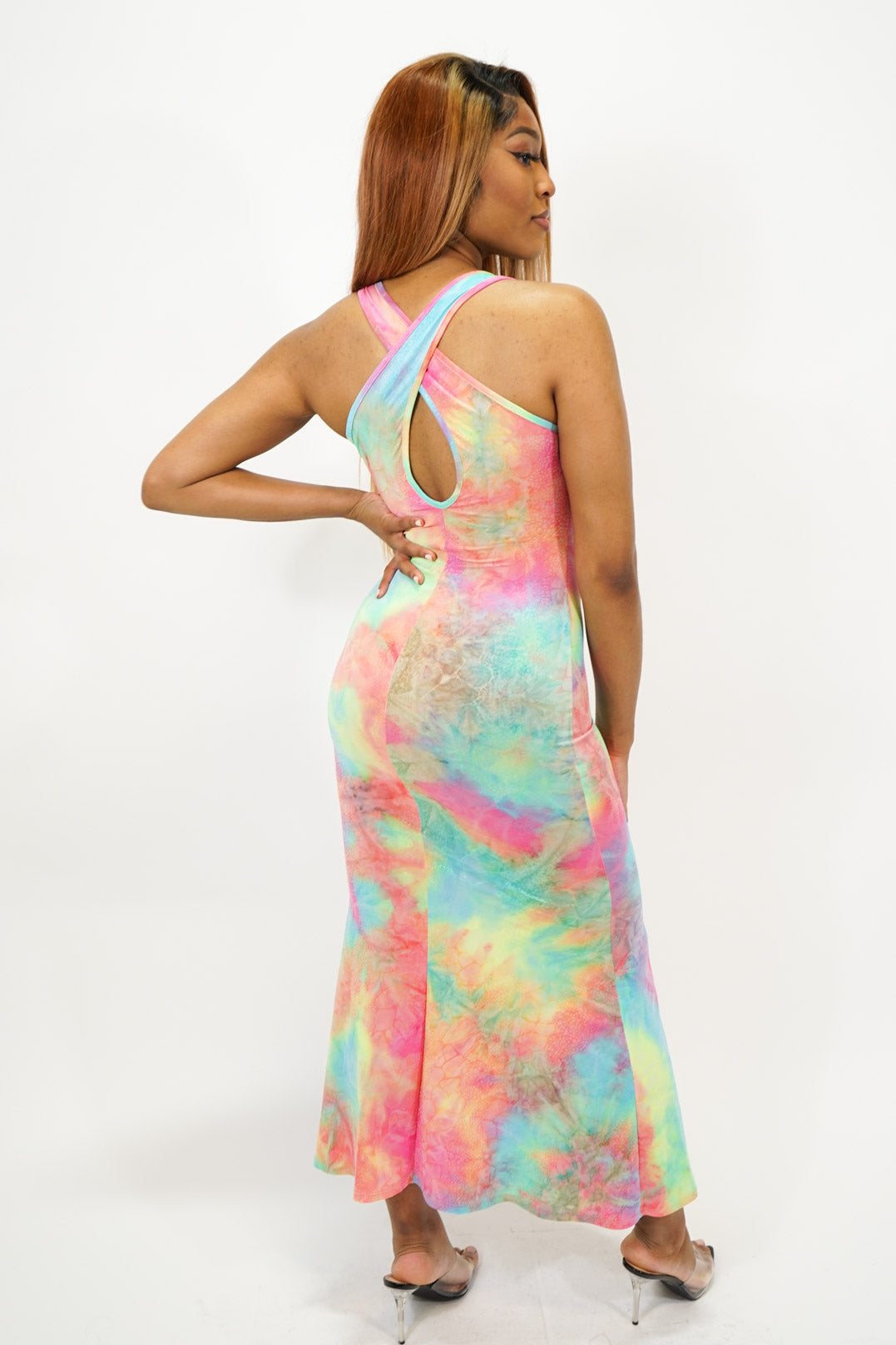 Geovanna Tie Dye Dress