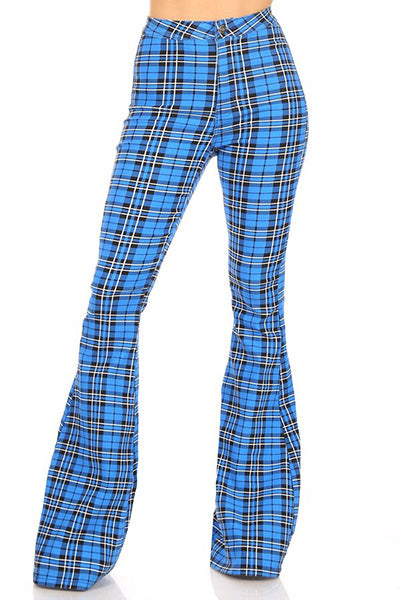 Perfect Plaid Bell Bottom Jeans