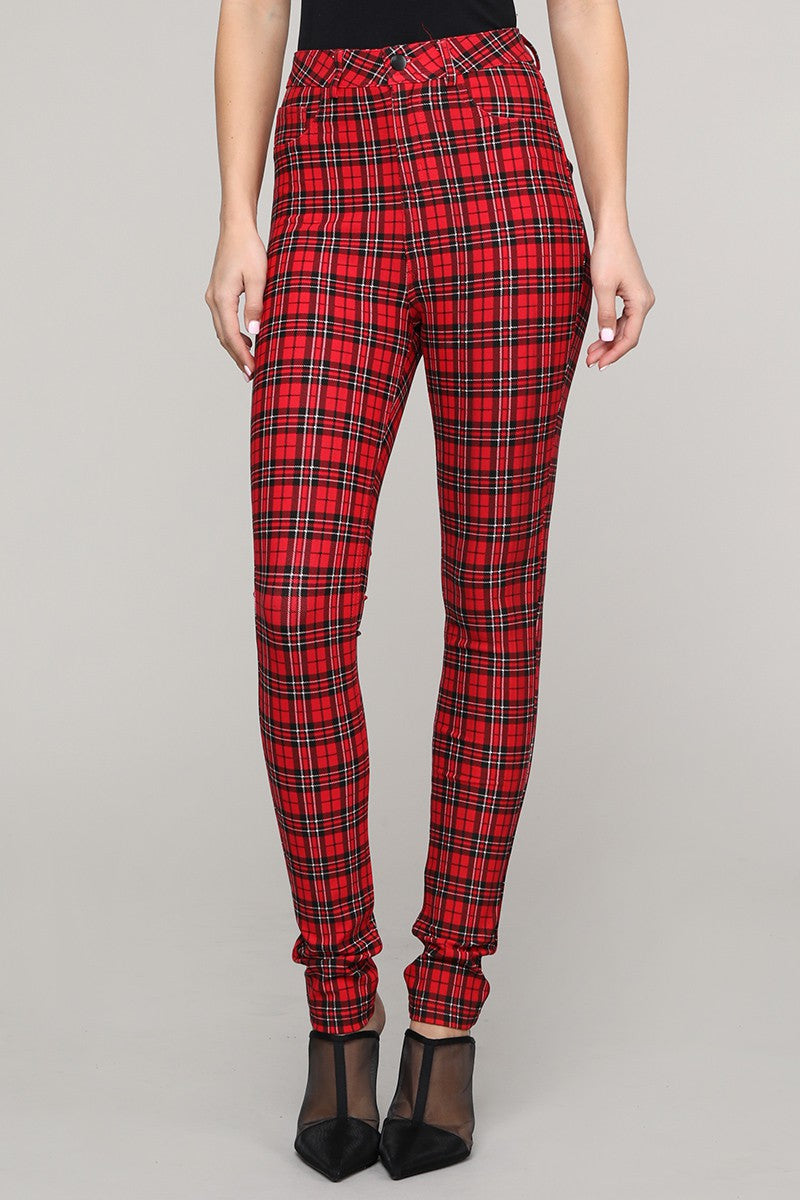 Gotta Love It Plaid Skinny Jeans