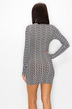 Be Entranced Long Sleeve Mini Dress