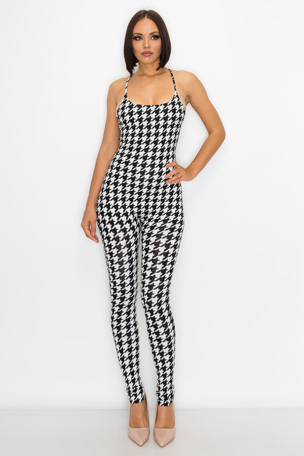 A Tier Above Tight Fit Halter Jumpsuit