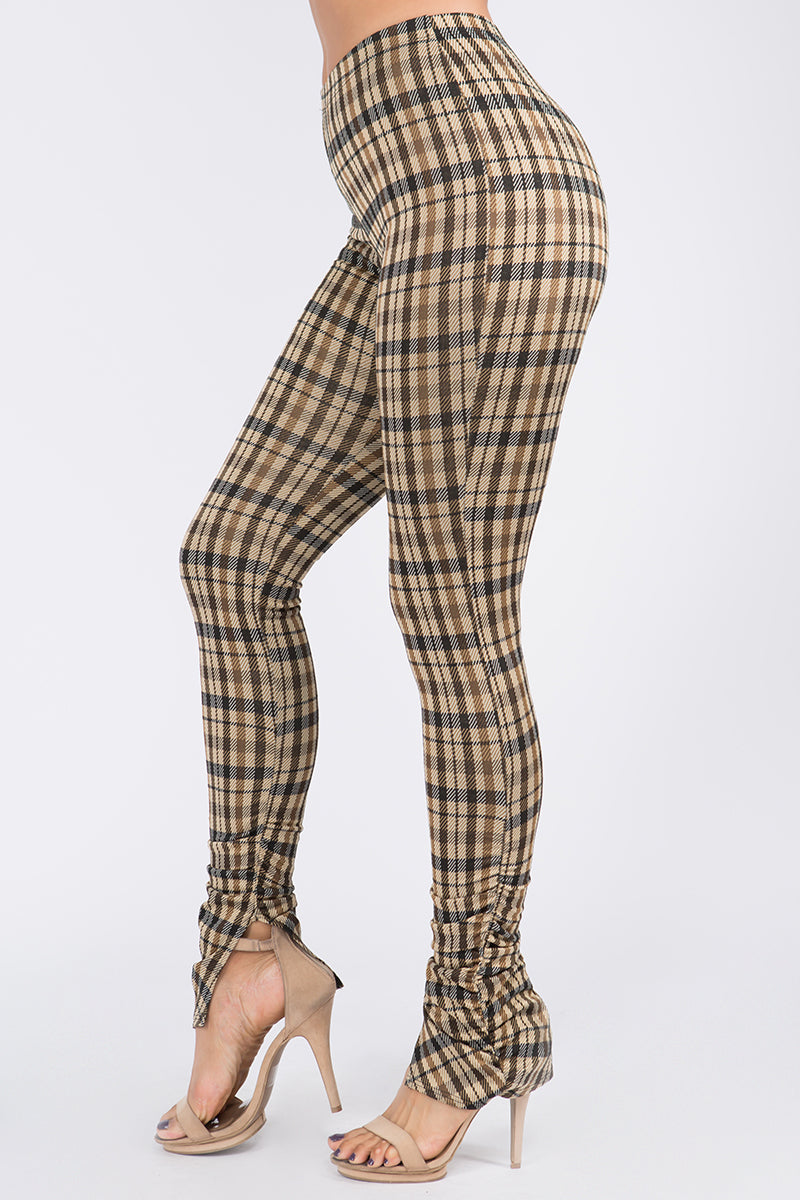Always In Plaid Ruched Leggings