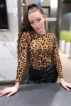 Spot Me Animal Print Long Sleeve Bodysuit