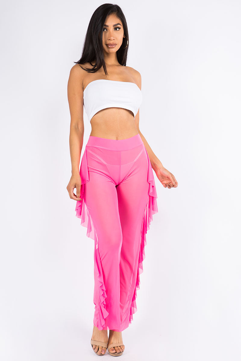 Standing Out Side Ruffle Pants