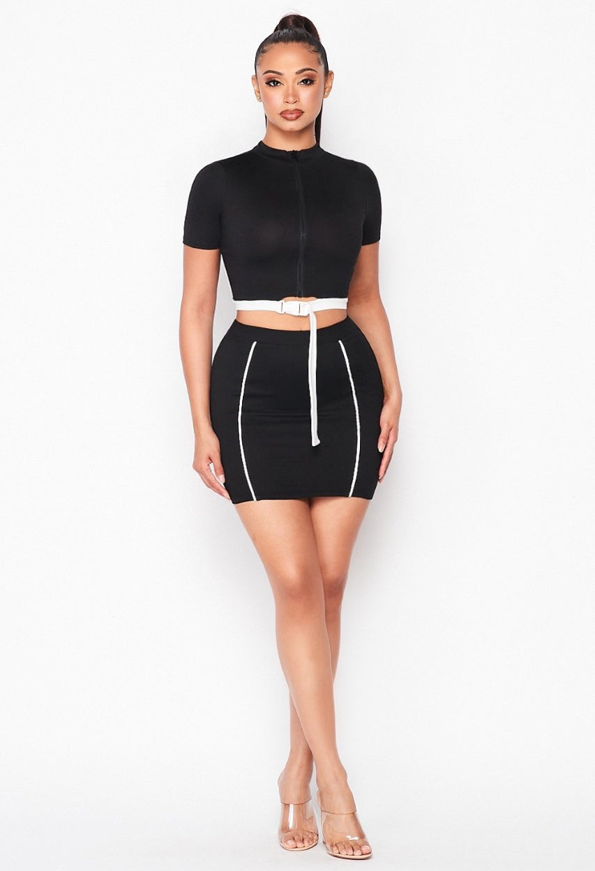 Taking it Back Mini Skirt Set