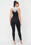 Get With It Color Block Hoodie Jumpsuit