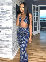 Dragon Rising Halter Top + Bell Bottom Pants Set