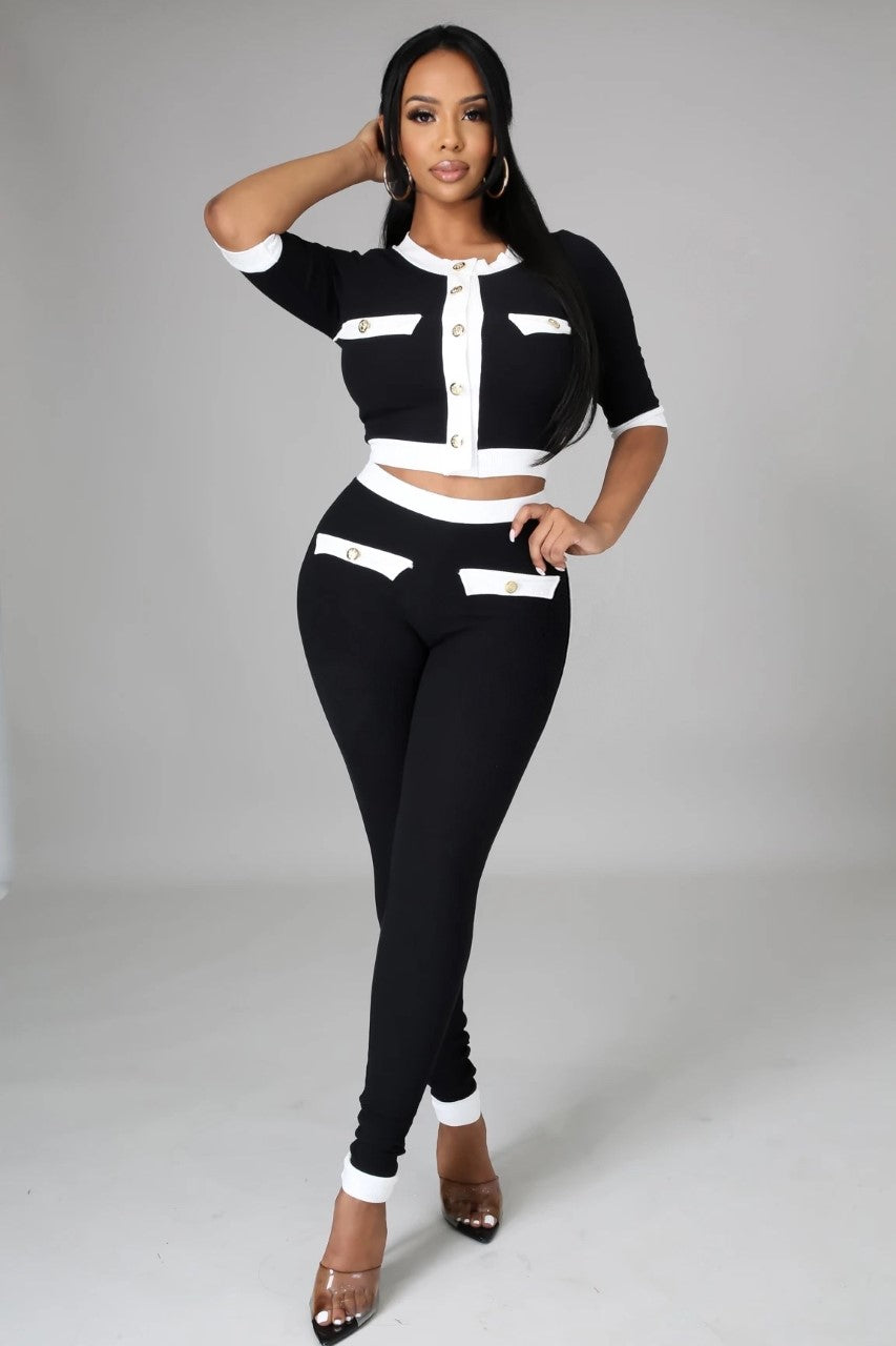 Keep it Fresh Ribbed Pants Set