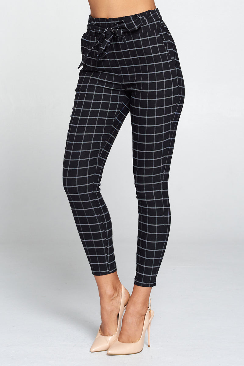 Angelica Plaid Skinny Pants