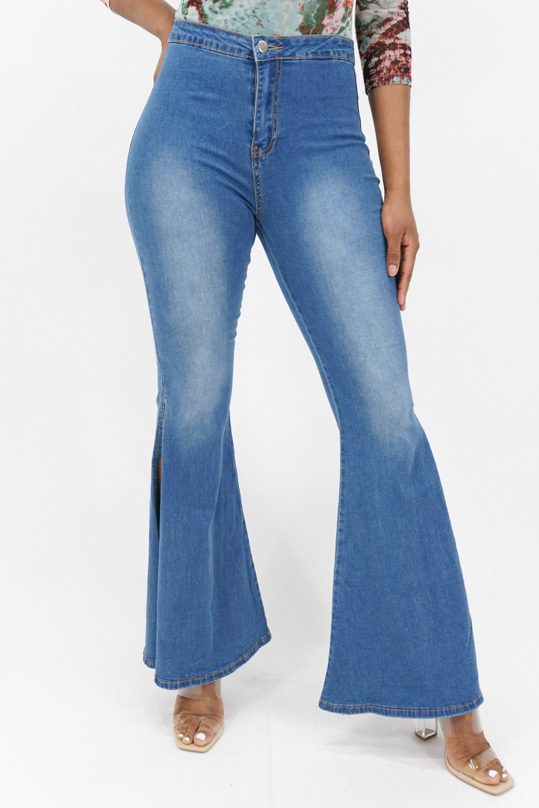 Against All Odds Deep Side Cut Jeans