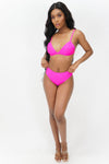 Bright and Bold Bikini Swimsuit