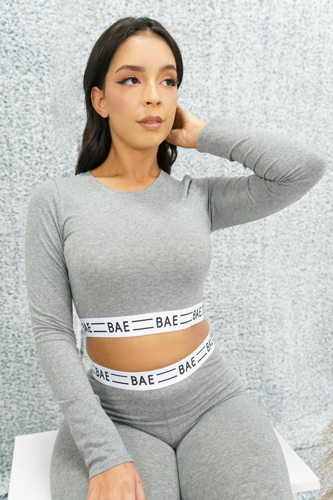 I'm Your Bae Long Sleeve Crop Top