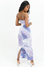 Sea Pearl Tiedye Strapless Maxi Dress