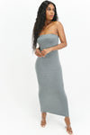 Lush and Lavish Strapless Maxi Dress