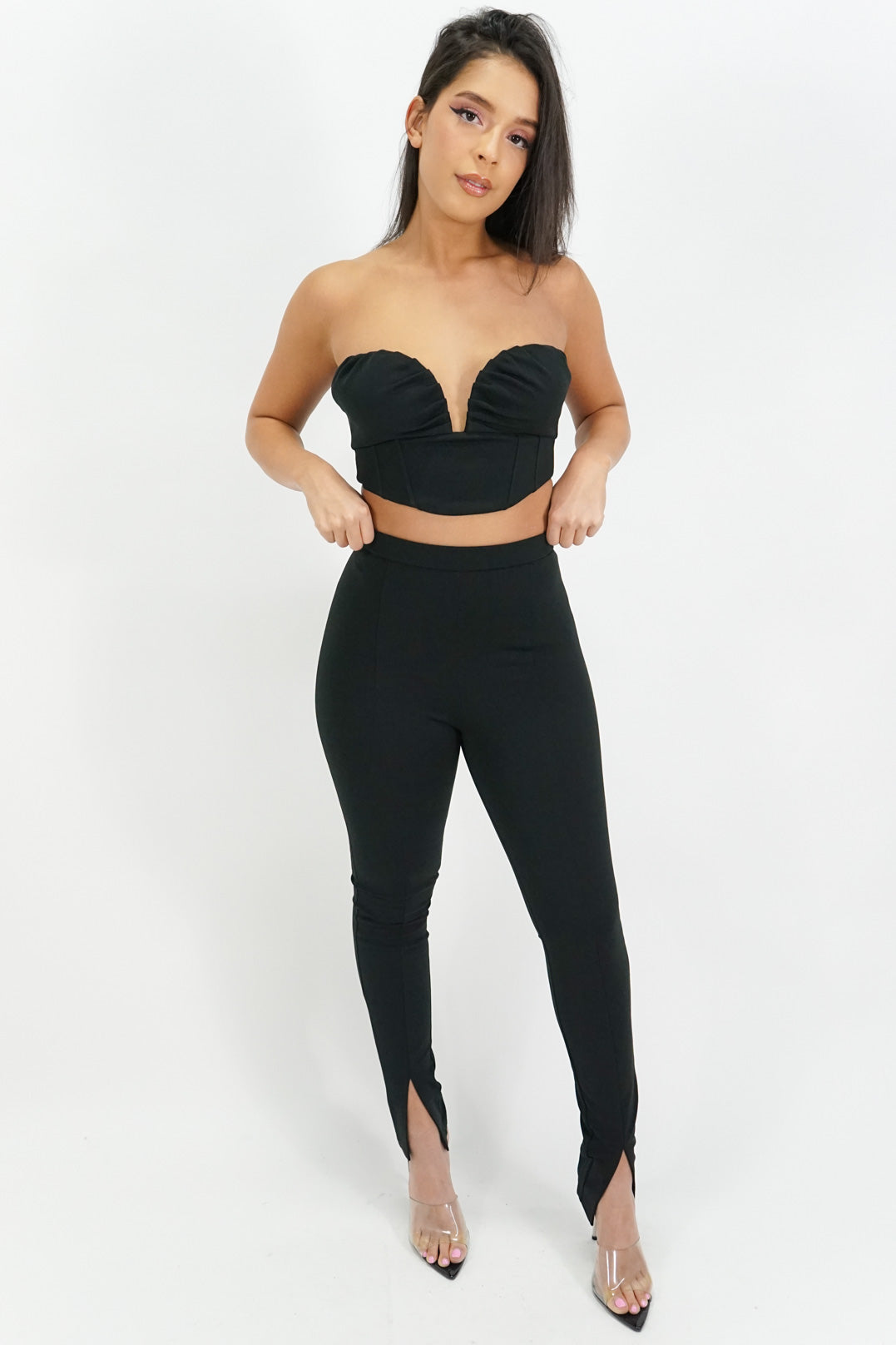 Love Me Lots Strapless Top + Legging Set