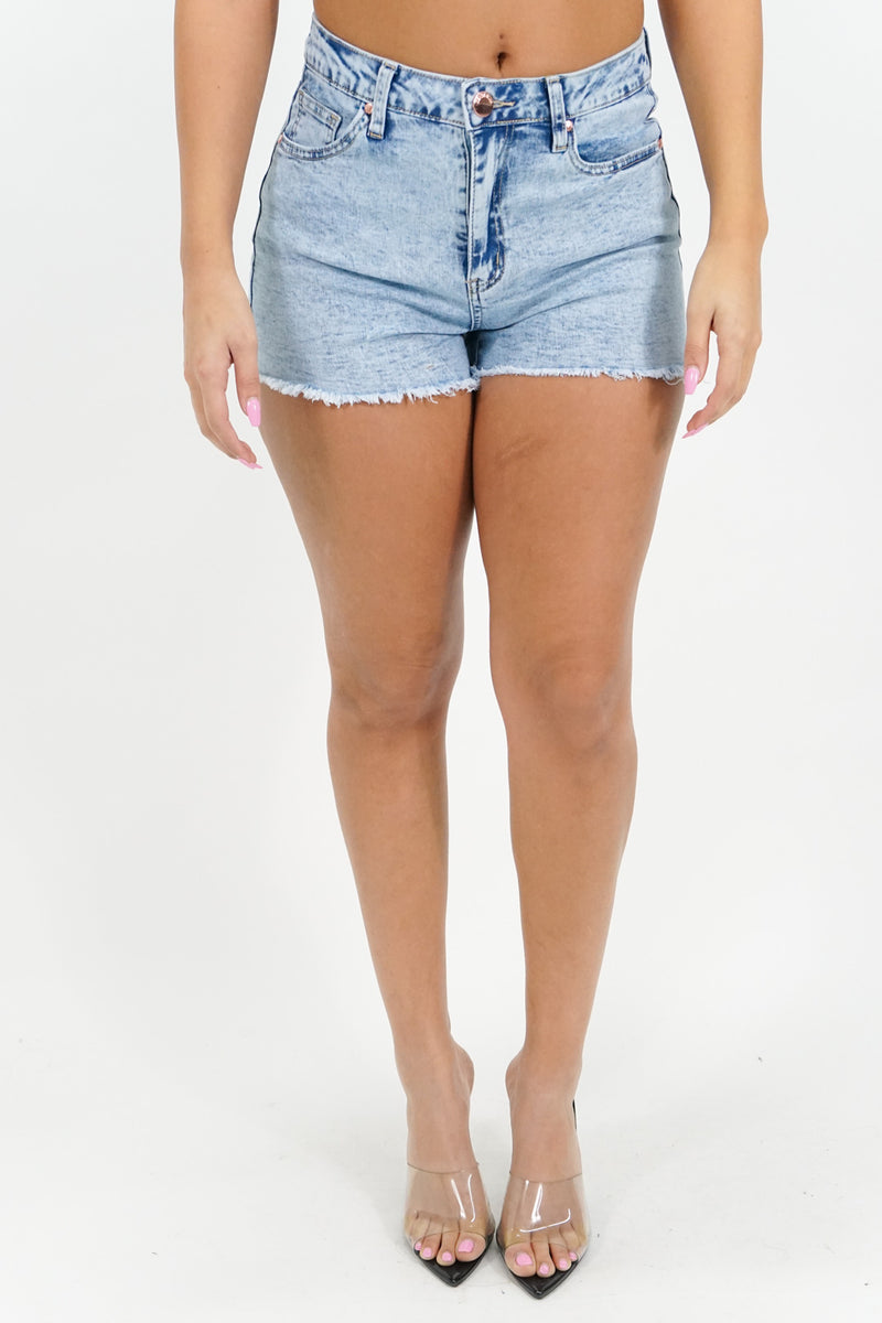 Good Times Cutoff Denim Mini Shorts