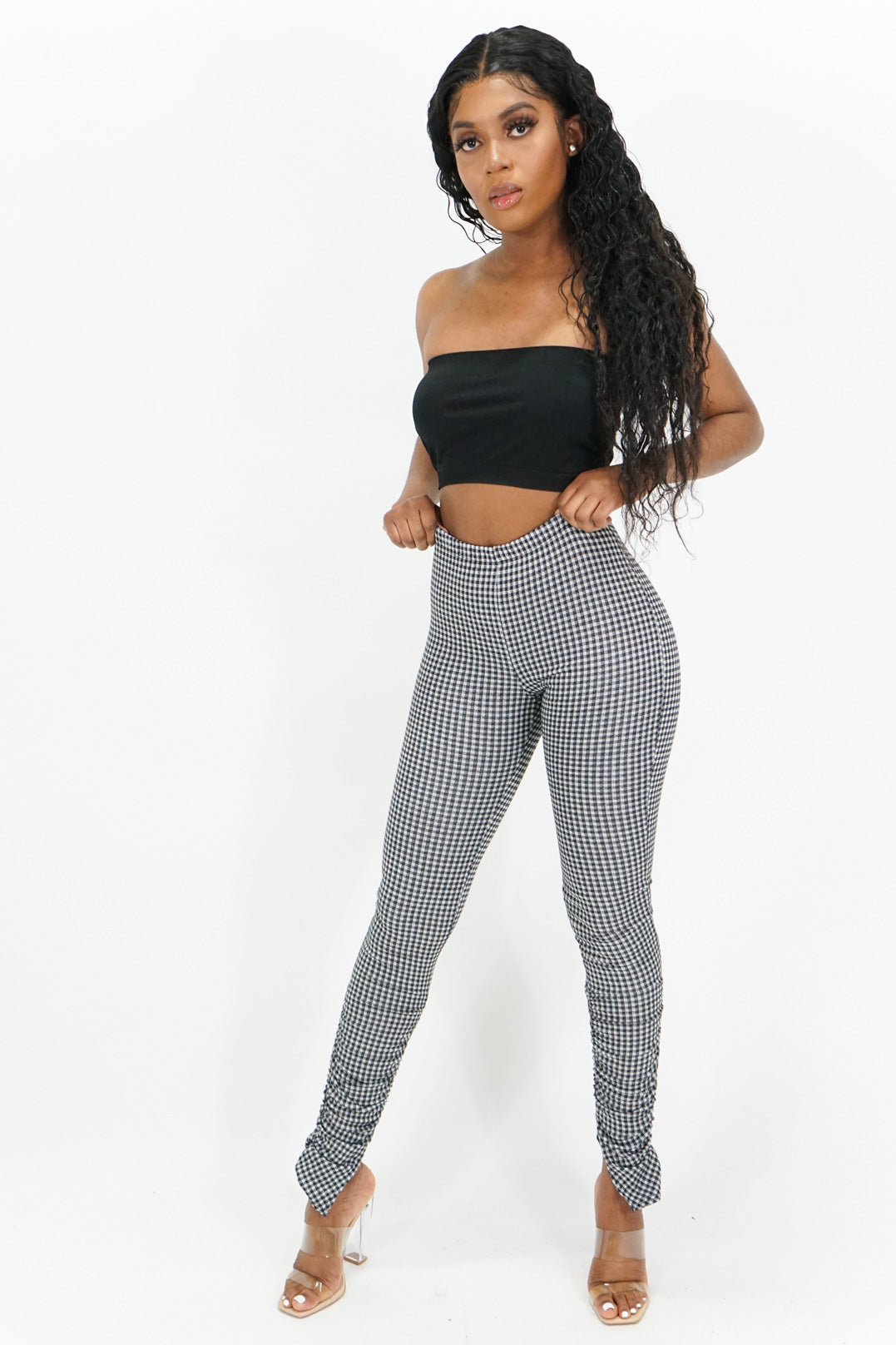 On the Grid Ruched Leggings