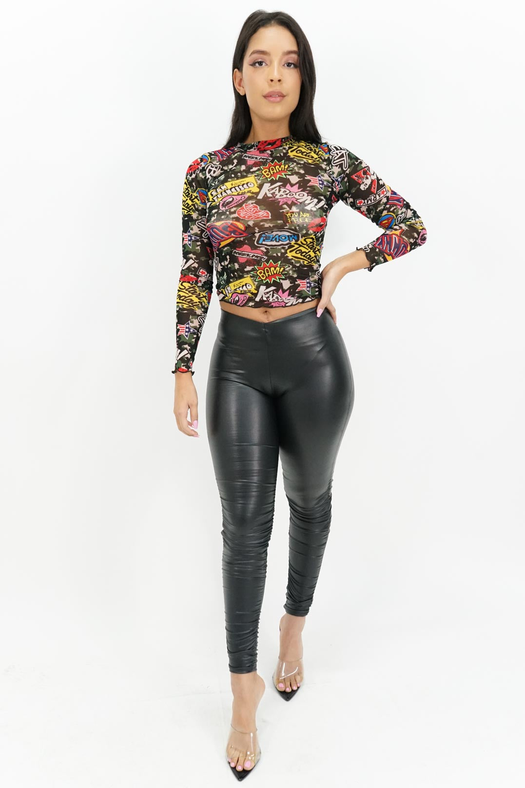 Ready to Rumble Ruched Pleather Leggings