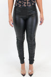 Make it Rain PU Leather Stacked Leggings