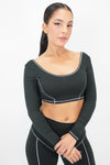 Cyber Chic Cropped Top