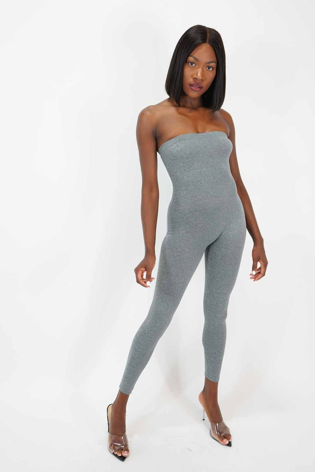 Can't Hold Me Down Strapless Jumpsuit