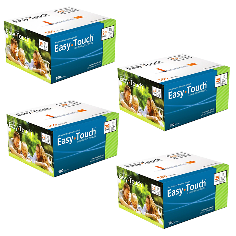 EasyTouch Insulin Syringe - 29G 1CC 1/2in - 400 Syringes