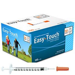 "EasyTouch Insulin Syringe - 30G .3CC 1/2"" - BX 100 - Total Diabetes Supply"