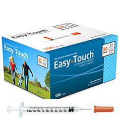 "EasyTouch Insulin Syringe - 30G .5CC 5/16"" - BX 100 - Total Diabetes Supply"