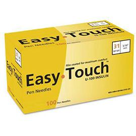 "EasyTouch Pen Needle - 31G 3/16"" - BX 100 - Total Diabetes Supply"