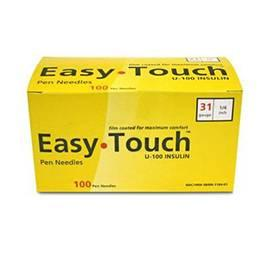 "EasyTouch Pen Needle - 31G 1/4"" - BX 100 - Total Diabetes Supply"