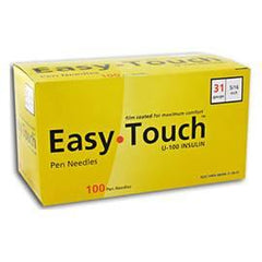 "EasyTouch Pen Needle - 31G 5/16"" - BX 100 - Total Diabetes Supply"