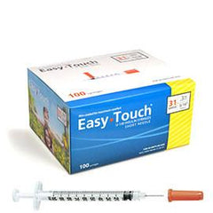 "EasyTouch Insulin Syringe - 31G .3CC 5/16"" - BX 100 - Total Diabetes Supply"