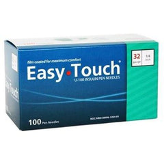 "EasyTouch Pen Needle - 32G 1/4"" - BX 100 - Total Diabetes Supply"