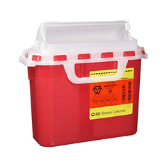 BD Guardian Sharps Container, 5.4 qt, Horizontal