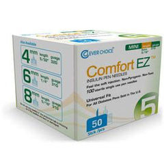 Clever Choice Comfort EZ Pen Needles - 31G X 5mm - BX 50 - Total Diabetes Supply