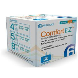 Clever Choice Comfort EZ Pen Needles - 31G X 6mm - BX 50 - Total Diabetes Supply