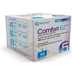 Clever Choice Comfort EZ Pen Needles - 32G X 5mm - BX 50 - Total Diabetes Supply