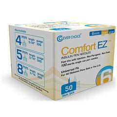 Clever Choice Comfort EZ Pen Needles - 32G X 6mm - BX 50 - Total Diabetes Supply