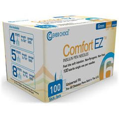 Clever Choice Comfort EZ Pen Needles - 32G X 6mm - BX 100 - Total Diabetes Supply