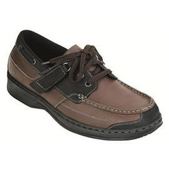 Baton Rouge Men's Boat Shoe - Tie-less Lace - Diabetic Shoes - Total Diabetes Supply