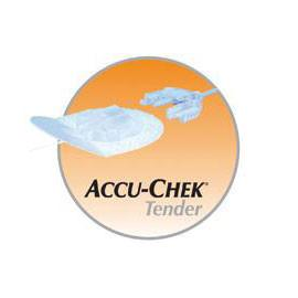 "Accu-Chek Disetronic Tender 1 Infusion Sets - 17mm Cannula and 43"" (110cm) Tubing - 10/bx"