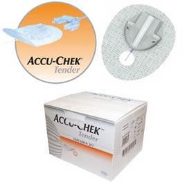 "Accu-Chek Disetronic Tender 2 Infusion Sets - 17mm Cannula and 31"" (80cm) Tubing - 10/bx - Total Diabetes Supply"