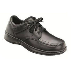 Men's Loafer - Tie-less Lace - Diabetic Shoes - Black - Total Diabetes Supply