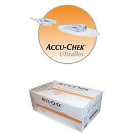 "Accu-Chek Disetronic Ultraflex 1 Infusion Sets - 8mm Cannula and 24"" (60cm) Tubing - 10/bx - Total Diabetes Supply"