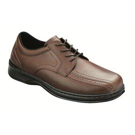 Gramercy Men's Dressy Oxford - Lace - Diabetic Shoes - Brown - Total Diabetes Supply