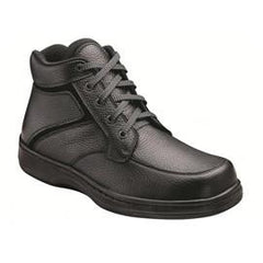 Highline Men's Boots - Lace - Diabetic Shoes - Black - Total Diabetes Supply