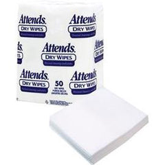 Attends Dry Wipes, 10? x 13?, Medium-Weight - One pkg of 50 each - Total Diabetes Supply