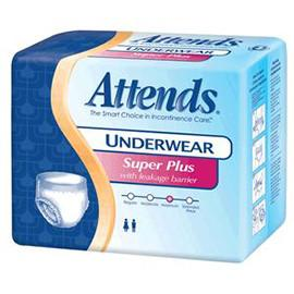 Attends Super Plus Absorbency Protective Underwear with Leakage Barriers, Youth/Small (20 to 34 inches?, 80-125 lbs) - One pkg of 20 each - Total Diabetes Supply